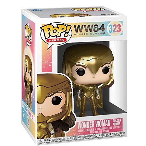 FreeStar Funko Pop Heroes : Wonder Woman 1984 - Standing Wonder Woman Gold Power (Metallic) #323 Figure Gift Vinyl 3.75inch for Heros Movie Fans Multicolur