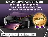 STAMPANTE ALIMENTARE FORMATO A4 - EDIBLE ECO PER STAMPE SU TORTA CON 5 CARTUCCE E 100 CIALDE IN OMAGGIO - CON SCANNER