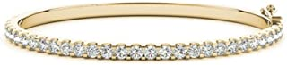 14K Yellow Gold Diamond Bangle Bracelet Value Collection