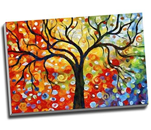 Colorful Wishingtree Leinwanddruck, Wandkunst, Bild, Leinwanddruck, groß, A1, 76,2 x 50,8 cm