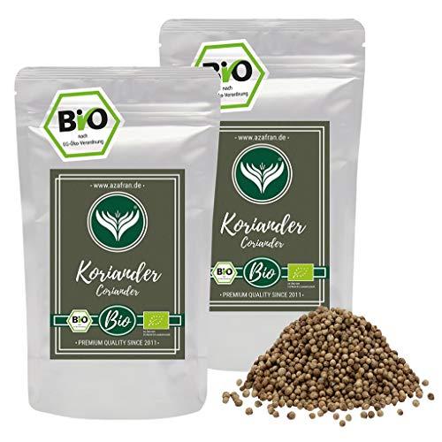 Azafran BIO Koriander-Samen ganz Koriander Saat (Körner) 500g