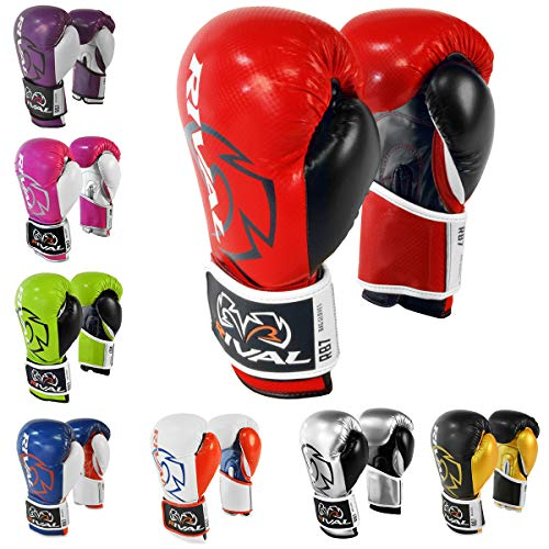 RIVAL Boxing RB7 Fitness Plus Bag Gloves - 14 oz. - Red/Black