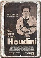 2個 Houdini Magic TV Ad Retro Look Funny Metal Tin Wall Signs8X12インチについての真実