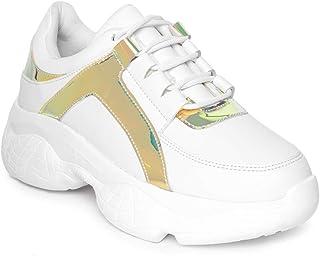 Vendoz Women Premium White Casual Shoes Sports Shoes Sneakers