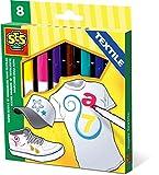 SES creative 00269 - Super Textilstifte 8 Farben -