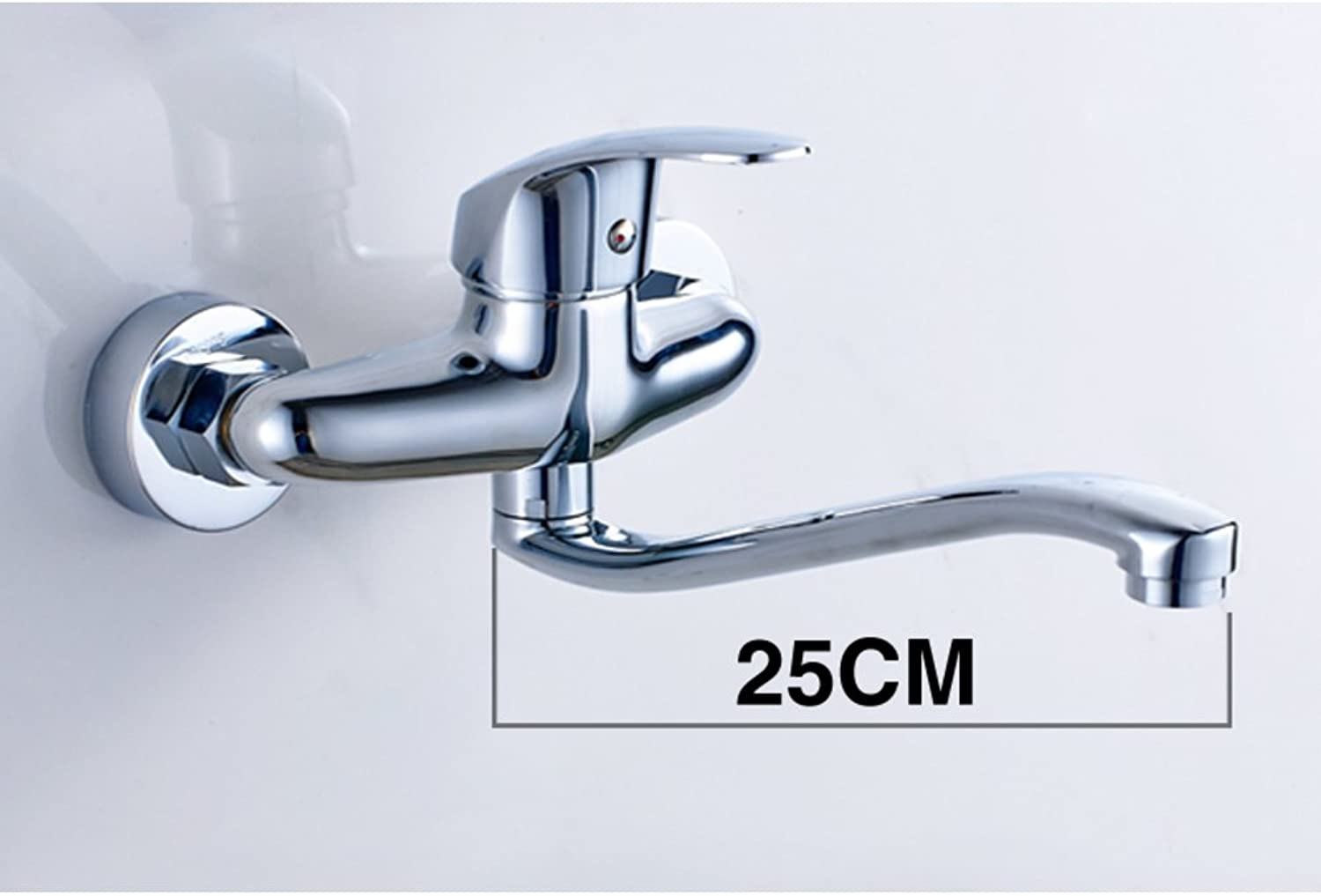 Copper wall-mounted taps  kitchen sink faucet  hot and cold water replaced tap-D