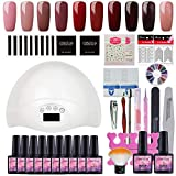 Fashion Zone 10 Colors Gel Nail Polish Starter Kit with 48W UV LED - Best Reviews Guide