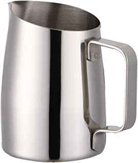BESTONZON Milk Frothing Jug Stainless Steel Frothing Pitcher Pull Flower Cup Latte Art Cappuccino Maker 400ML