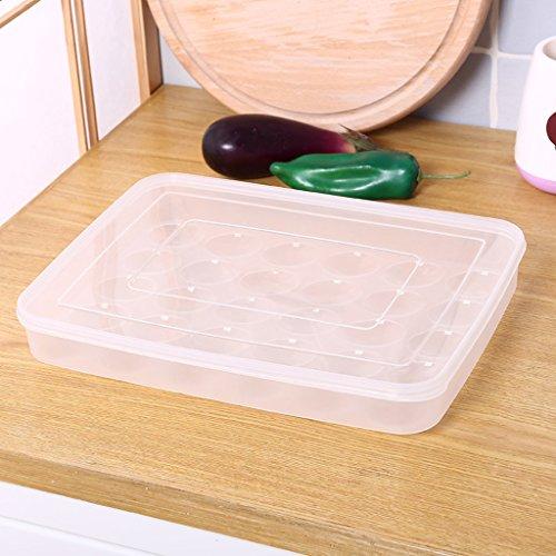 JAZS® Cuisine 30 Box Egg Box Réfrigérateur Boîte de rangement Transparent Plastique Multi-couche Fruits de mer Boîte Accueil Egg Tray résistant à l'humidité multi-usages