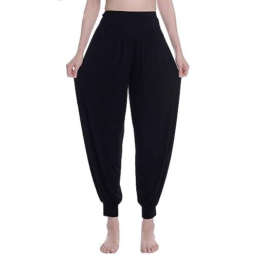 9e083545dc Urban CoCo Womens  Solid Color Soft Elastic Waistband Fitness Yoga Harem  Pants