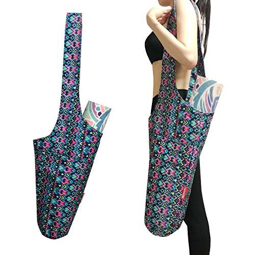 Aozora Yoga Mat Bag   Yoga Mat Tote Sling Carrier with Large Side Pocket & Zipper Pocket   Fits Most Size Mats (Magic)