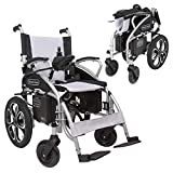 Vive Power Wheelchair - Electric Transport Compact Chair - Narrow, Folding Motorized Seat - Heavy Duty and Portable for Airplane Travel - Dual Motor with Aluminum Frame - Thick Cushion