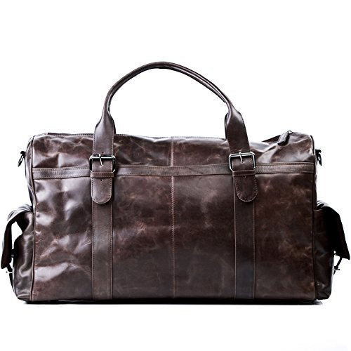 FEYNSINN Reisetasche echt Leder Ashton XL groß Sporttasche groß Weekender Ledertasche Herren 60 cm...
