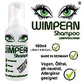 Wimpernshampoo - Wimpernschaum 150ml, ölfrei, vegan, geeignet für Allergiker, 100% Made in...