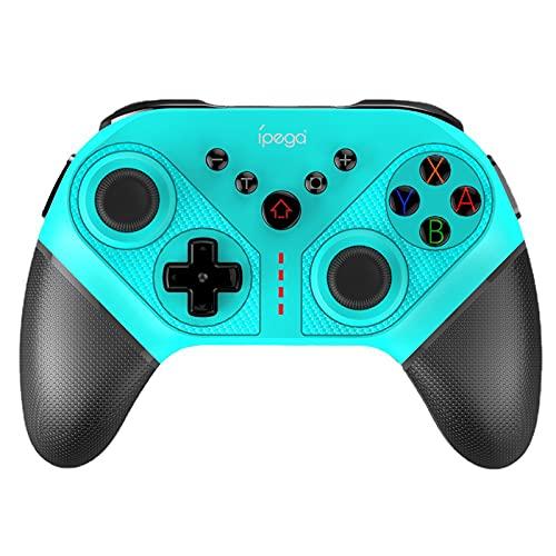 QEL Mando para Nintendo Switch/Switch Lite, Wireless Bluetooth Pro Controller Controlador Inalámbrico Remote Gamepad con Strike Pack/Función Turbo/Gyro Axis/Dual Shock/Wake-Up,Negro