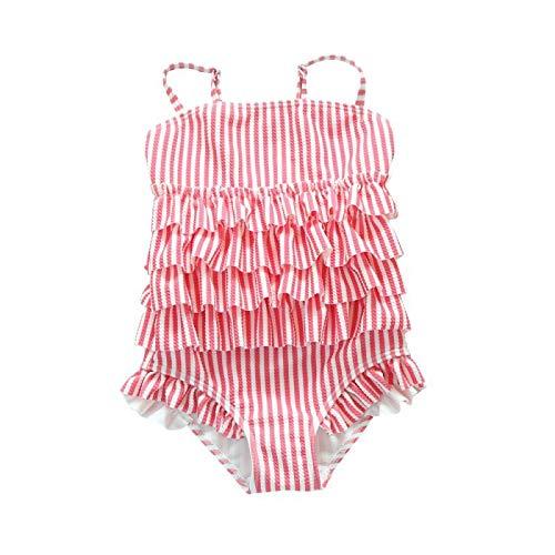 (アプラル)APRAL スクール水着 キッズ・ジュニア女児用 ワンピース タイプ フリル 子供水着 RT1907 (ピンク, 90)