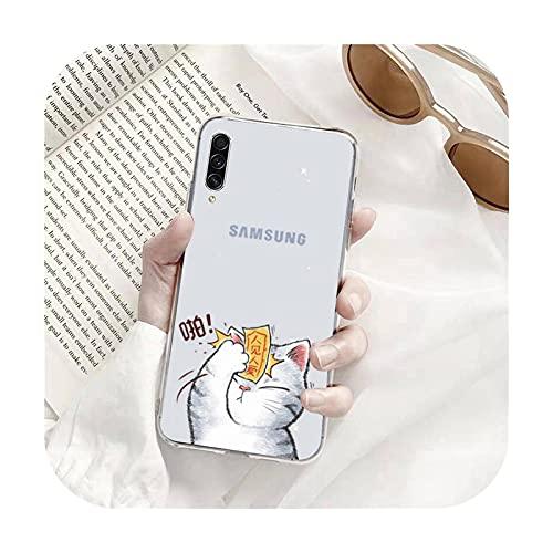 Gato China Pekín Opera Art Girl moda teléfono caso transparente para Samsung s9 s10 s20 para Huawei P20 P30 P40 para xiaomi note mi 8 9-a10-xiaomi mi 10t pro