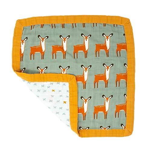 Tiny Alpaga Couette de luxe en mousseline de coton bio pour bébés et tout-petits 4 couches Motif animaux