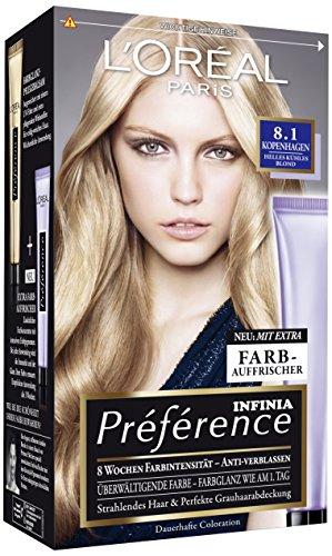 L'Oréal Paris A84535 Préférence, 8.1 Kopenhagen, Helles Kühles Blond, 3er Pack (3 x 1 Stück)