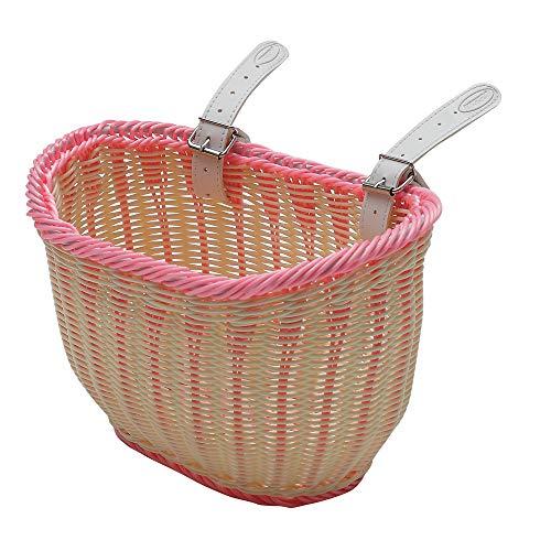Mv-Tek Round - Cesta para niña, Color Crema/Rosa, 14 x 17 x 15 cm