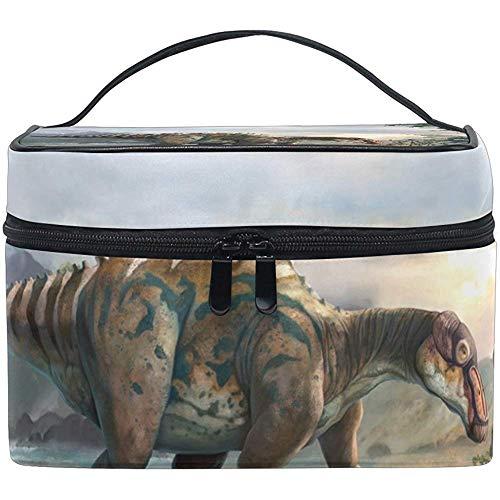 Organisateur de stockage de cas de train de maquillage de voyage de sac cosmétique d'art de dinosaure
