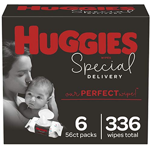Huggies Special Delivery Hypoallergenic Baby Wipes, Unscented, 6 Flip-Top Packs (336 Wipes Total)