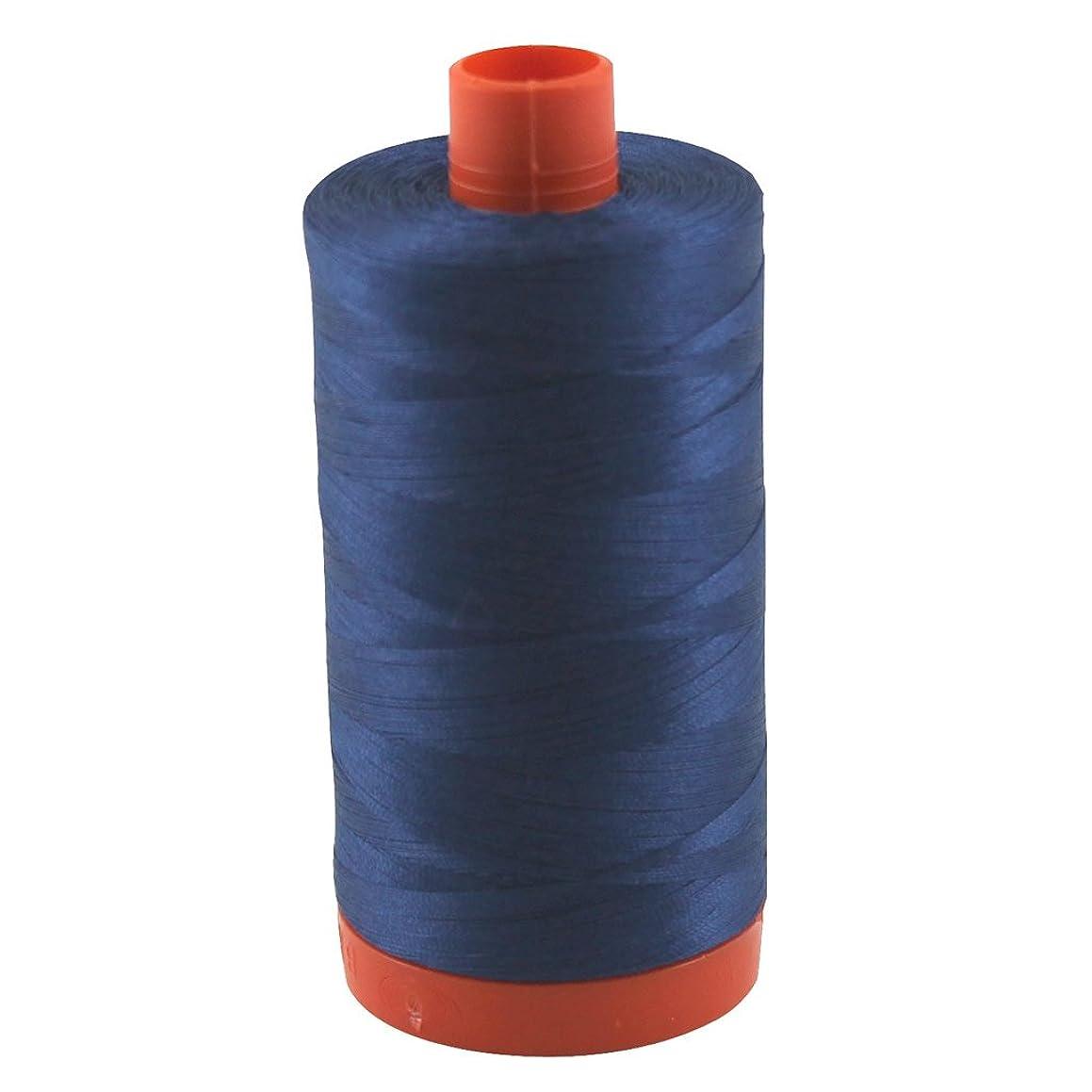 Aurifil Thread 2783 MEDIUM DELFT BLUE Cotton Mako 50wt Large Spool 1300m