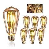 Edison Glühbirne E27, KIPIDA Retro Glühbirne 4W LED Vintage Beleuchtung ST64 Ideal für Retro...