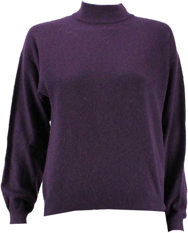 Charter Club Purple Cashmere Turtleneck Sweater Msrp   139