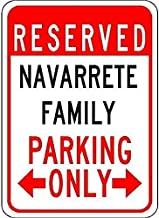 Not Applicable Metal Tin Sign Decoration Iron Painting 8x12 inches Navarrete Family Parking - Customized Last Name