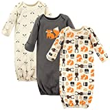 Hudson Baby Unisex Cotton Gowns, Forest, 0-6 Months