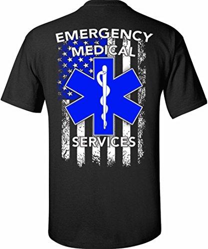 Patriot Apparel EMS Emergency Medical Services T-Shirt (Medium, Black)