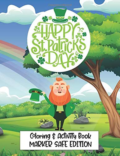 Saint Patrick's Day Coloring and Activity Book-MARKER SAFE EDITION