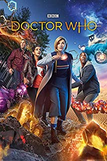 Doctor Who - TV Show Poster (Chaotic - Jody Whittaker - The Dr. & Her Team) (Size: 24 inches x 36 inches)