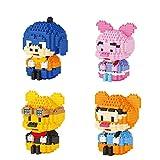 Ladrillos Nano Juguetes Set - De Dibujos Animados Winnie Oso Y Amigos De Diamond Building Block, Piglet Tigger Modelo, Regalo Hermoso Cumpleaños