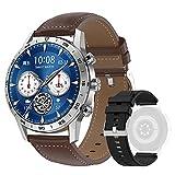 DTNO.I Smartwatch 1,39'' IPS Pantalla a Color Completa con llamadas Bluetooth y Contraseña de Reloj Fitness, 4 Estilos de Lista y Más de 20 Características Reloj Inteligente para Hombre (Plateado)