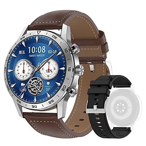 DTNO.I Smartwatch 1,39   IPS Pantalla a Color Completa con llamadas Bluetooth y Contraseña de Reloj Fitness, 4 Estilos de Lista y Más de 20 Características Reloj Inteligente para Hombre (Plateado)