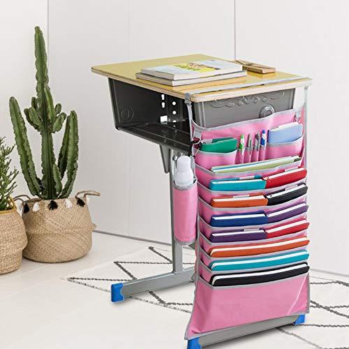 Omabeta Ajustable con una bolsa de almacenamiento de botella de agua plegable Oxford tela organizador lateral para la escuela azul/rosa opcional (rosa)