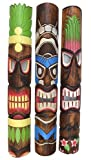 3 Piezas Tiki Máscara Im Tiki Hawaii Style en 100cm Longitud