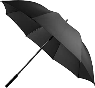 UROPHYLLA Golf Umbrella Windproof Large Rain Umbrella, Auto Open Oversize 62 Inch Black Stick Umbrella 8 Ribs Umbrella for Men and Women