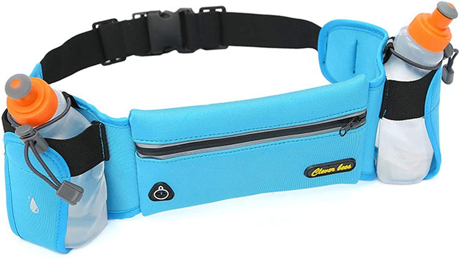 Waist Bag Fanny Pack, Adjustable Running Pouch with Water Bottle Holder Unisex for Workouts Cycling Travelling Outdoors Sport Hiking,blueee,B