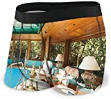 GLGFashion Briefs Boxer para Hombres Residential House Large Indoor Pool Furniture Sunrays Leisure Time Underwear For Men