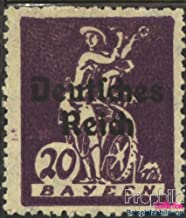 German Empire 122I, F Instead R 1920 Bavaria-Farewell (Stamps for Collectors)