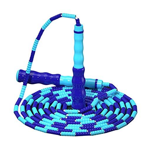 GUYAQ Springseil Springseil Übung Fitness Sportwerkzeug Harte Perle Springseil Verstellbares Springseil mit rutschfestem Griff für Outdoor-Indoor-Sportarten,Blau