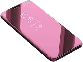 BaLeeLu for LG V35 ThinQ Case/LG V30 Case/LG V30 Case Ultrathin [Beauty Plating Glisten Reflect Light Mirror] Transparent Clear Luxury Flip Full Body TPU Soft Silicone Cover Protective-Rose Gold