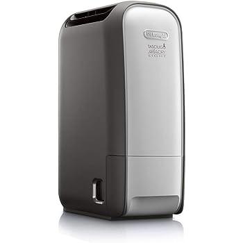 De'Longhi Tasciugo AriaDry Light DNS80 Deshumidificador, Extracción 7.5 L/d, Depósito 2.8L, Pantalla LCD, Filtro Antipolvo, Función Secado de Ropa, 34dB, Ligero, Compacto, Silencioso, Blanco