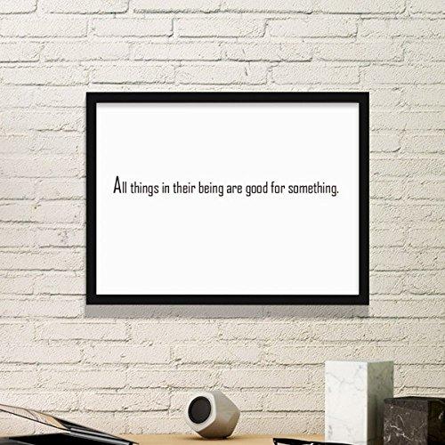 DIYthinker Slogan alle dingen in hun wezen zijn goed voor iets simpel fotolijst kunst drukt schilderijen thuis muursticker cadeau
