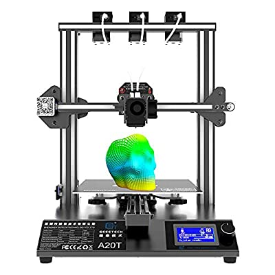 3D Printer,GIANTARM GEEETECH A20T 3D Printer,Mix-Color,With 3 Extruders,Quick Assembly 250 * 250 * 250 mm³, Wide Printing Area