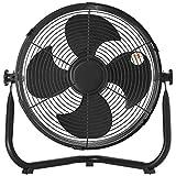 [山善] 扇風機 30cm 床置き ダイヤルスイッチ 無段階風量調節 4枚羽根 (換気 / 空気循環) DCモーター搭載 ブラック YMY-D30(B) [メーカー保証1年]