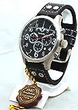 IMC Fliegeruhr Tornado Männer Herren Chronograph Armbanduhr Uhr Lederarmband Gehäuse aus Edelstahl